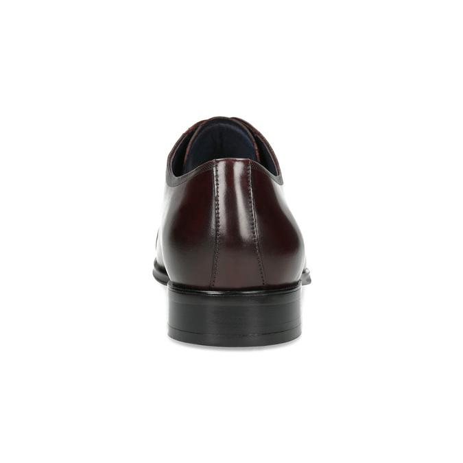 Vínové kožené poltopánky bata, červená, 826-5851 - 15
