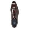 Vínové kožené poltopánky bata, červená, 826-5851 - 17
