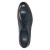 Modré kožené poltopánky bata, modrá, 826-9810 - 15