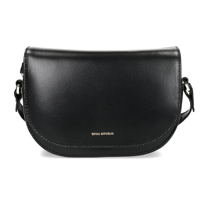 Kožená kabelka s klopou royal-republiq, čierna, 964-6084 - 26