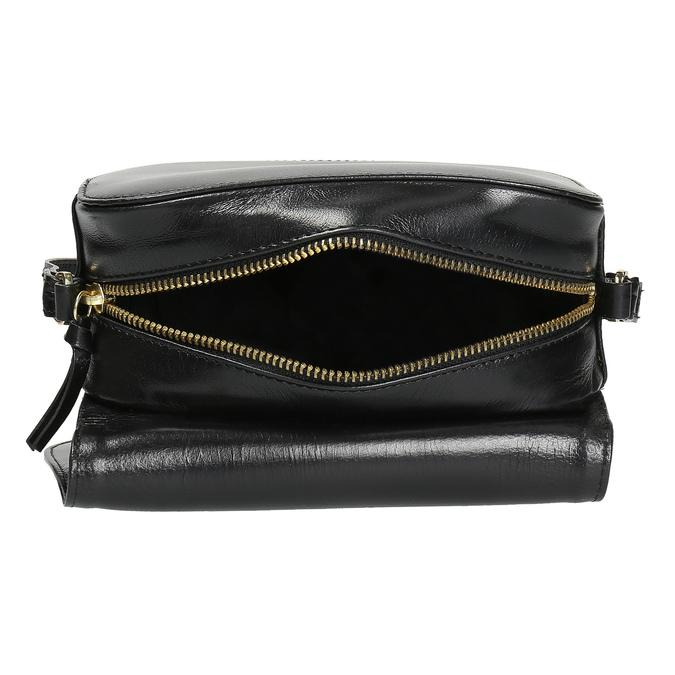 Kožená kabelka s klopou royal-republiq, čierna, 964-6084 - 15