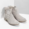 Členkové čižmy s výšivkou bata, šedá, 596-2686 - 26