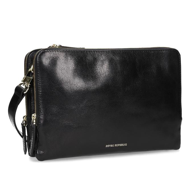 Kožená Crossbody kabelka so zipsom royal-republiq, čierna, 964-6082 - 13