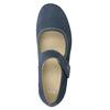 Kožené baleríny na klinovom podpätku bata, modrá, 626-9645 - 15