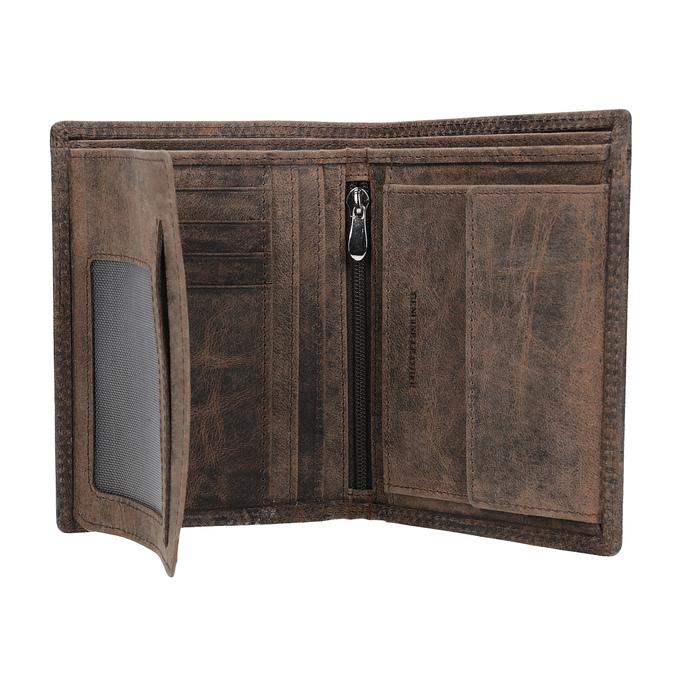 Hnedá pánska kožená peňaženka bata, hnedá, 944-4208 - 15