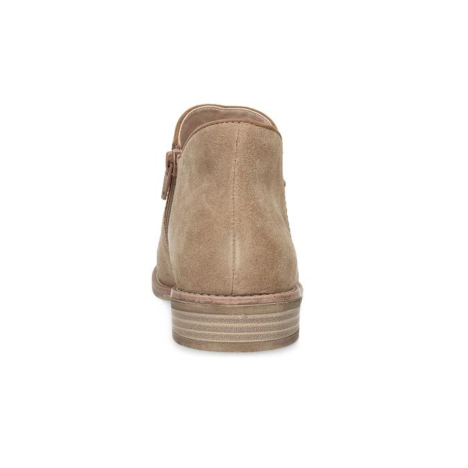 Kožené členkové čižmy bata, hnedá, 596-3685 - 15