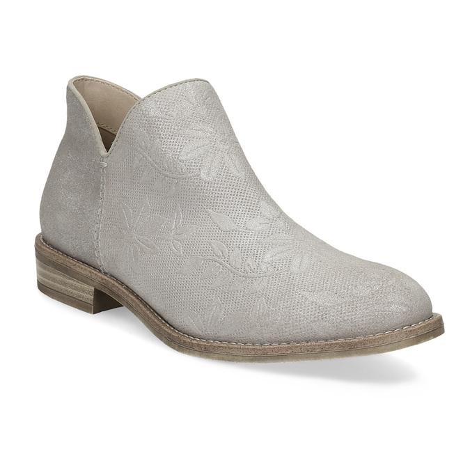 Členkové dámske čižmy bata, šedá, 596-2685 - 13