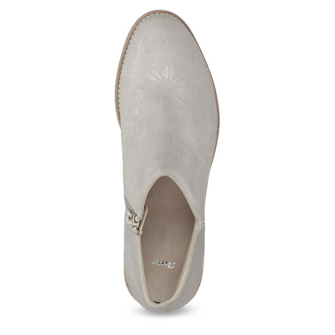 Členkové dámske čižmy bata, šedá, 596-2685 - 17