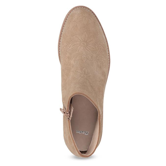 Kožené členkové čižmy bata, hnedá, 596-3685 - 17