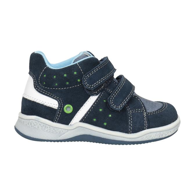Detská kožená členková obuv bubblegummers, modrá, 113-9603 - 26