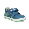 Modré detské tenisky so zeleným detailom bubblegummers, modrá, 111-9625 - 13