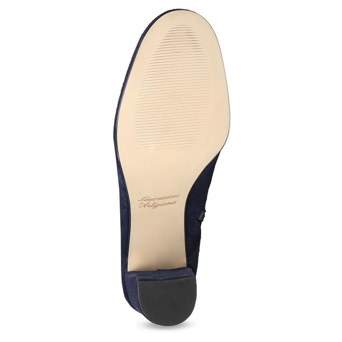 Členková kožená obuv s mašľou bata, 793-9613 - 18