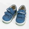 Modré detské tenisky so zeleným detailom bubblegummers, modrá, 111-9625 - 16
