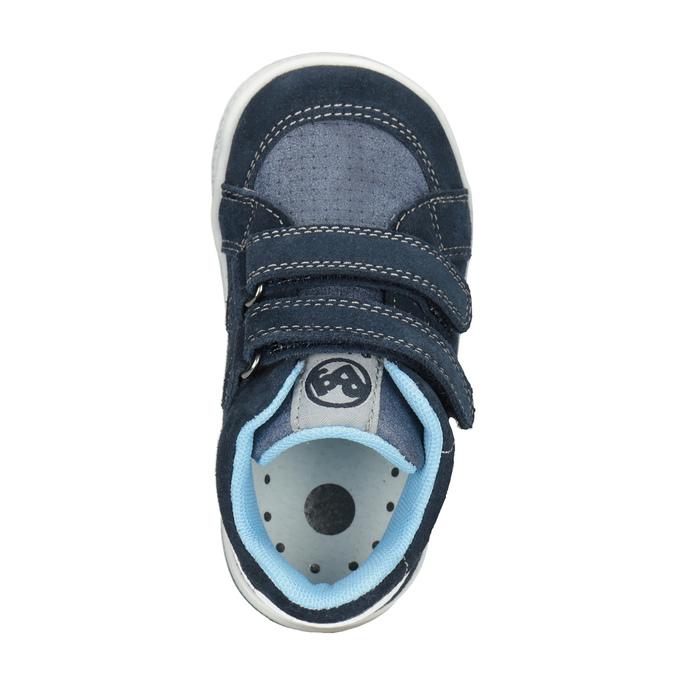 Detská kožená členková obuv bubblegummers, modrá, 113-9603 - 15