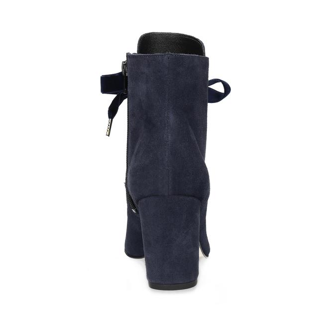 Členková kožená obuv s mašľou bata, 793-9613 - 15