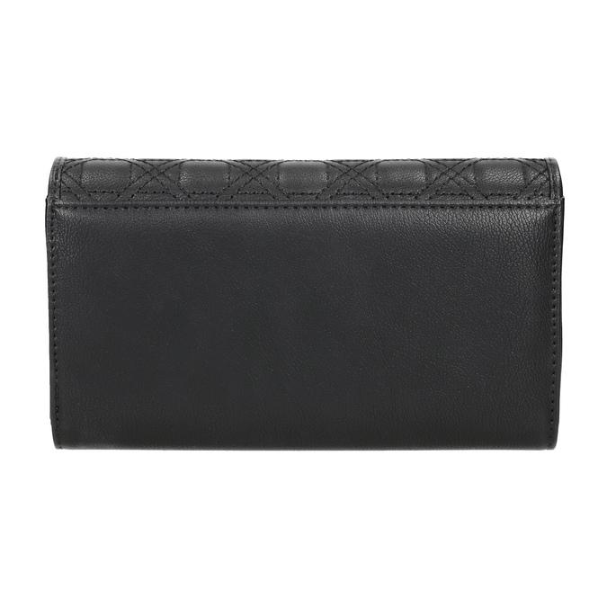 Dámska peňaženka s prešitím bata, čierna, 941-6169 - 16