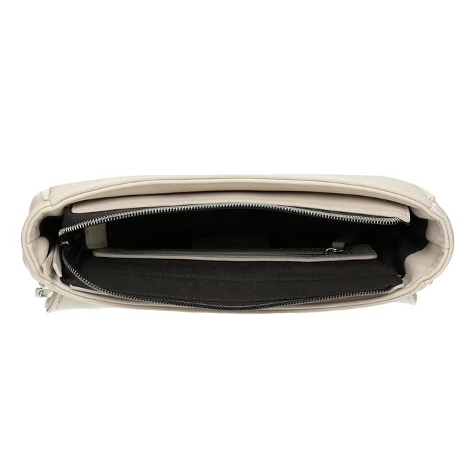 Crossbody kabelka s prešitím na klope bata, béžová, 961-1826 - 15