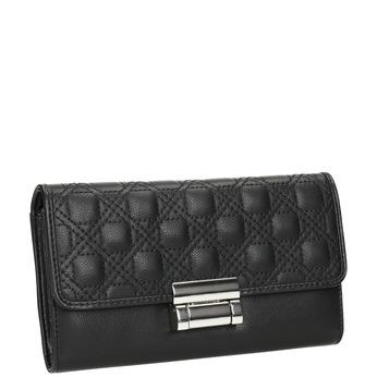 Dámska peňaženka s prešitím bata, čierna, 941-6169 - 13