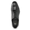 Čierne kožené Oxford poltopánky bata, čierna, 824-6944 - 17
