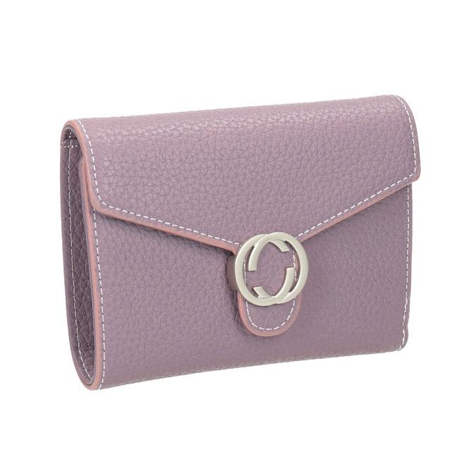 Ružová peňaženka s kovovým detailom bata, ružová, 941-9213 - 13