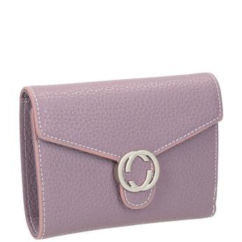 Ružová peňaženka s kovovým detailom bata, 941-9213 - 13
