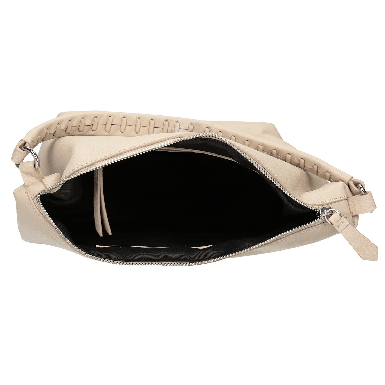 Baťa Krémová kožená Hobo kabelka - Kabelky  cb18894d27e