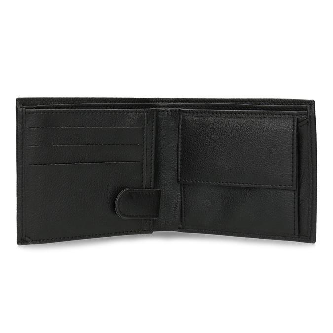 Kožená pánska peňaženka s vrúbkami bata, čierna, 944-6206 - 15