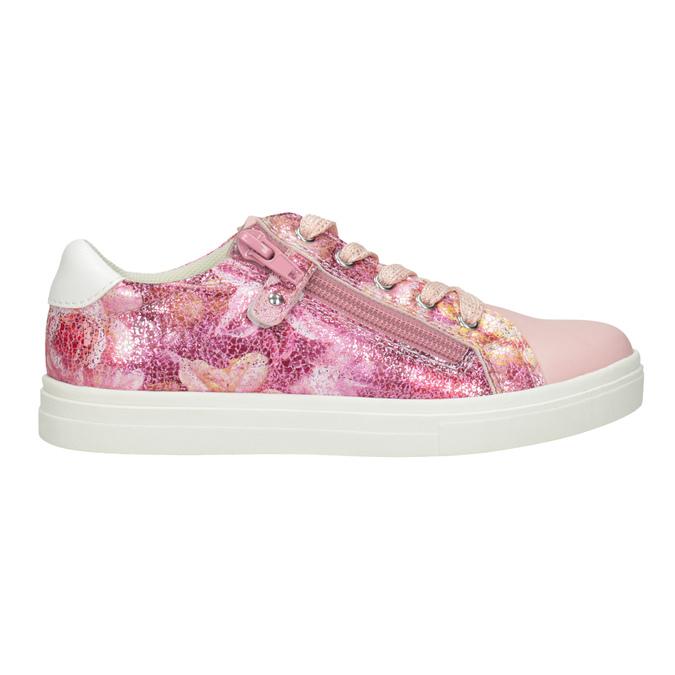 Dievčenské ružové tenisky so zipsom mini-b, 321-5219 - 26