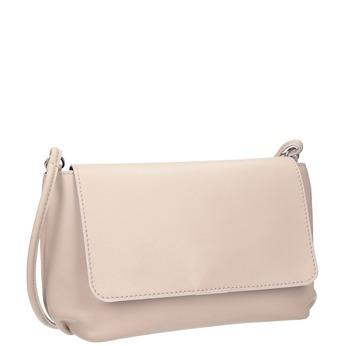 Krémová kožená kabelka bata, ružová, 964-9291 - 13