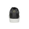 Čierne ležérne tenisky s nášivkami north-star, čierna, 541-9602 - 16