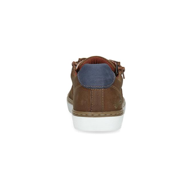 Detské kožené tenisky mini-b, hnedá, 414-4600 - 15