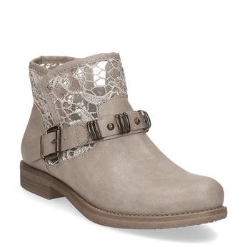 Dámske čižmy s čipkou bata, šedá, 591-2628 - 13