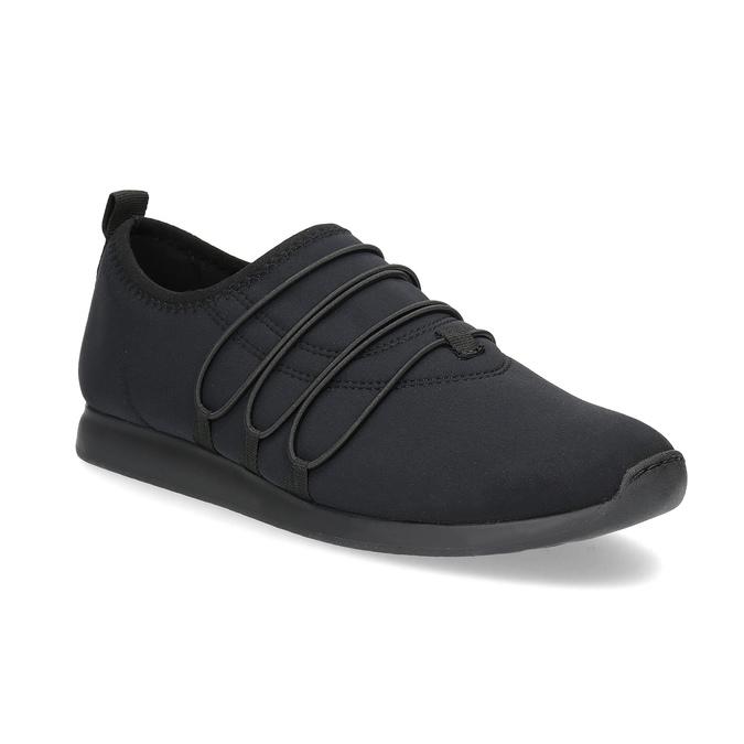Slip-on tenisky s gumičkami vagabond, čierna, 619-6132 - 13