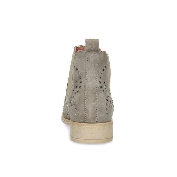 Kožené členkové topánky s kovovou aplikáciou bata, šedá, 596-2690 - 15