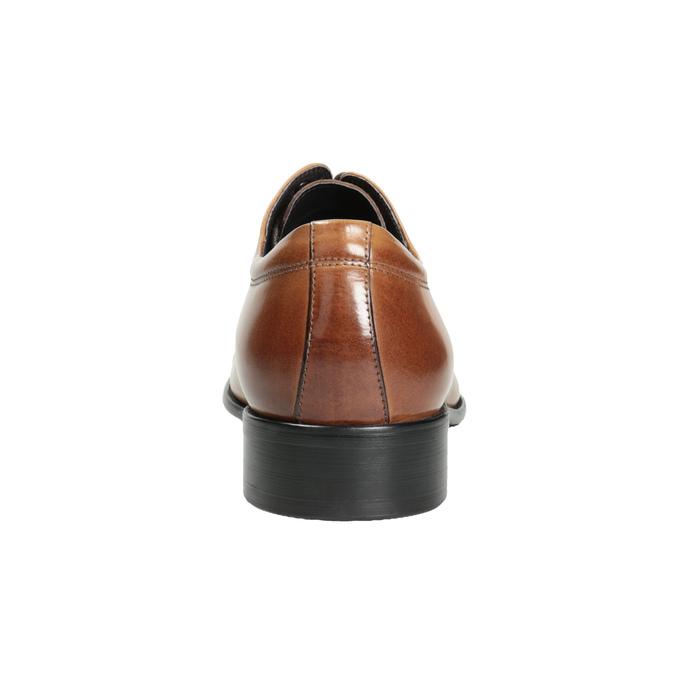 Pánske hnedé kožené Derby poltopánky bata, hnedá, 826-3983 - 16
