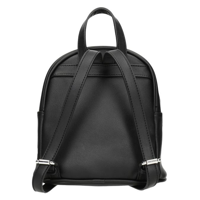 Čierny batoh s nášivkami bata, čierna, 961-6264 - 16