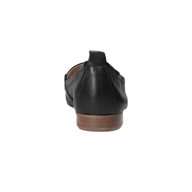 Kožené dámske mokasíny s prackou bata, čierna, 516-6619 - 15