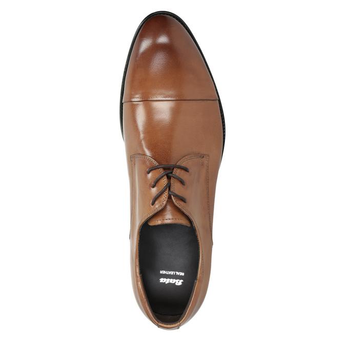 Pánske hnedé kožené Derby poltopánky bata, hnedá, 826-3983 - 15