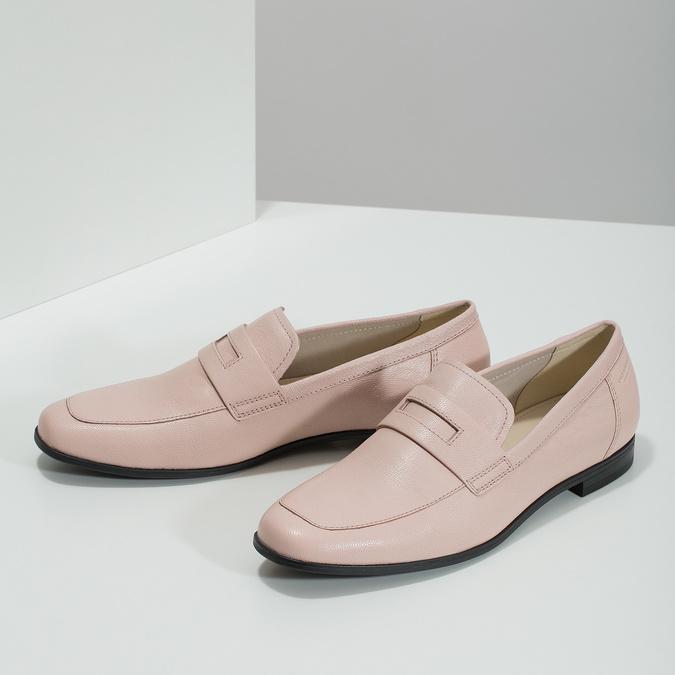 Ružové kožené Penny Loafers vagabond, ružová, 514-8094 - 16
