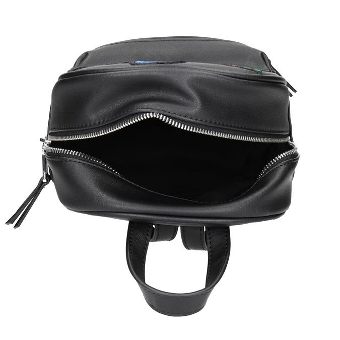 Čierny batoh s nášivkami bata, čierna, 961-6264 - 15