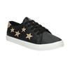 Dámske tenisky s hviezdičkami north-star, čierna, 541-6601 - 13
