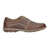 Hnedé kožené pánske poltopánky bata, hnedá, 826-4654 - 16
