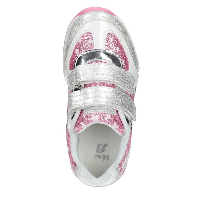 Detské tenisky s trblietkami mini-b, šedá, 221-2194 - 15