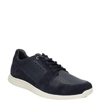 Pánske kožené tenisky bata-light, modrá, 844-9161 - 13