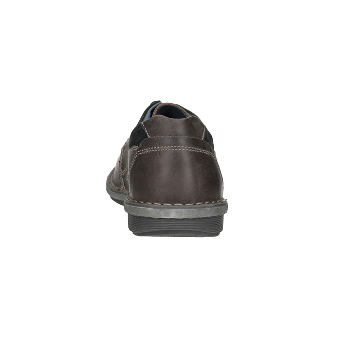 Kožené pánske ležérne poltopánky bata, 826-2654 - 15