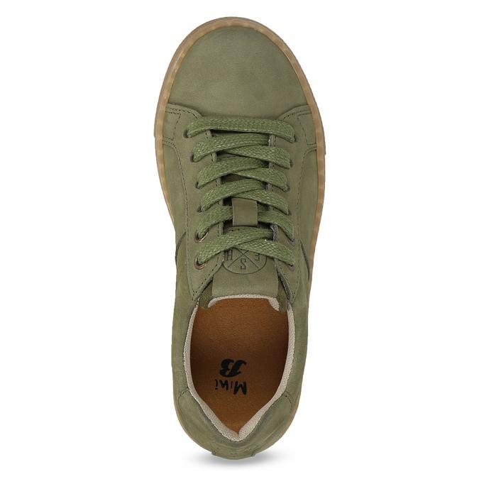 Detské zelené kožené tenisky mini-b, zelená, 416-7601 - 17