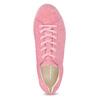 Ružové kožené tenisky na flatforme vagabond, ružová, 623-5050 - 17