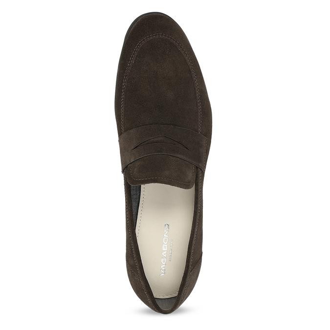 Kožené mokasíny v štýle Penny Loafers vagabond, hnedá, 813-4053 - 17