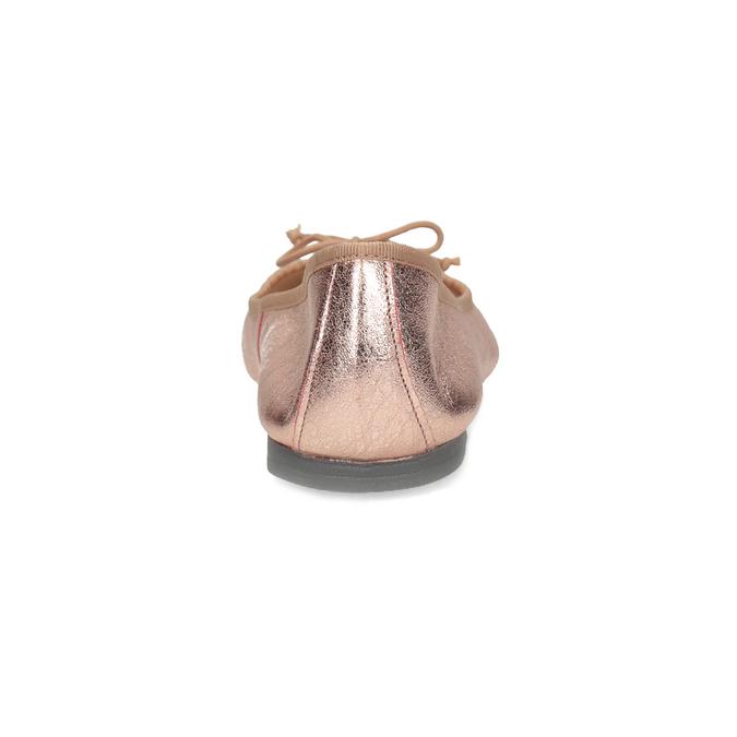 Kožené baleríny v  Rose Gold odtieni bata, 526-5144 - 15