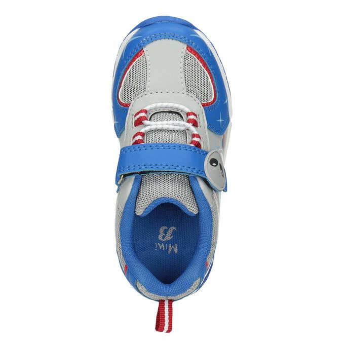 Detské tenisky s blikajúcou podrážkou mini-b, modrá, 211-9102 - 15